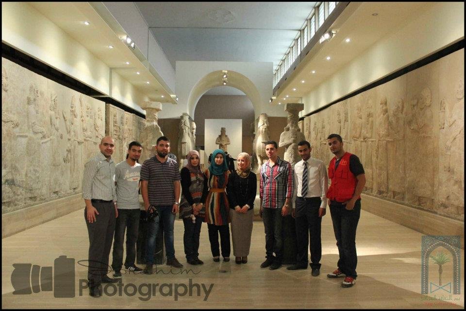 Iraqi Culture Day project team visits the Iraqi National Museum