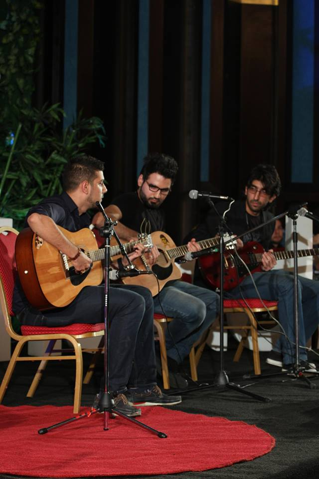 Soft Rock performing on TEDxBaghdad stage.